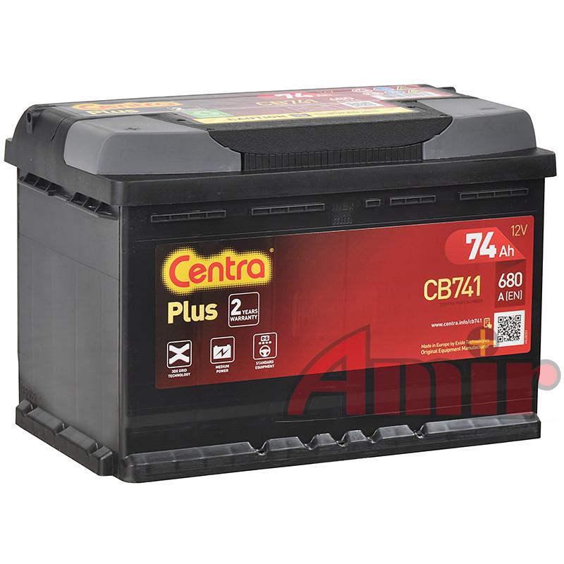 Akumulator Centra Plus - 12V 74Ah 680A CB741 Lewy +