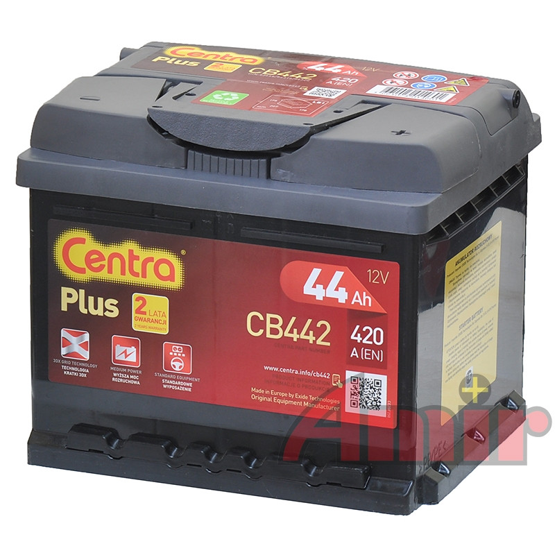 Akumulator Centra Plus - 12V 44Ah 420A CB442