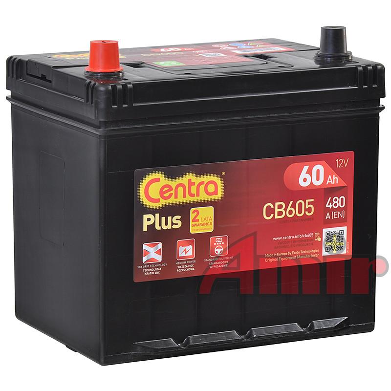 Akumulator Centra Plus - 12V 60Ah 390A CB605 JAPAN Lewy+