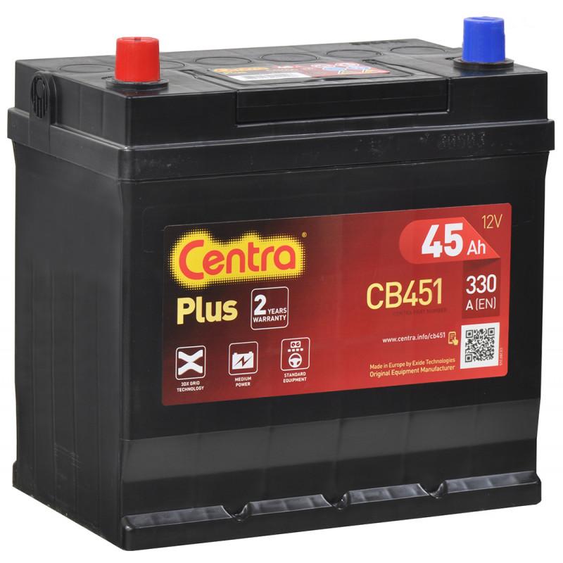 Akumulator Centra Plus - 12V 45Ah 330A CB451 JAPAN