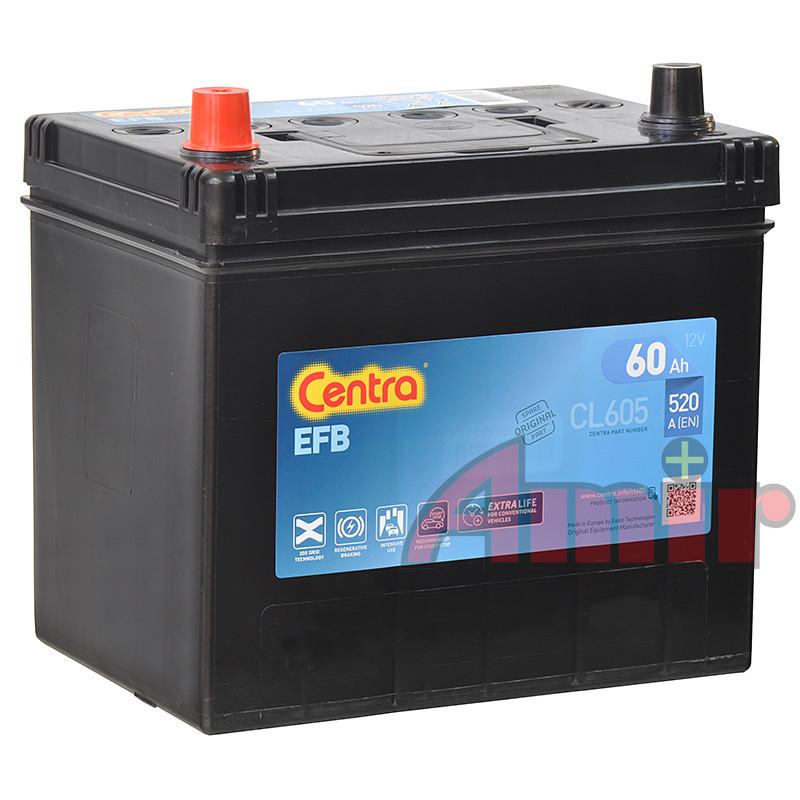 Akumulator Centra Start-Stop EFB - 12V 60Ah 520A CL605