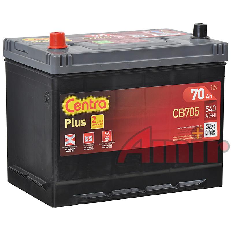 Akumulator Centra Plus - 12V 70Ah 540A CB705 JAPAN lewy+