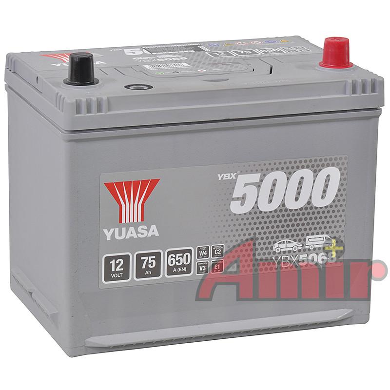 Akumulator Yuasa Silver - 12V 75Ah 650A YBX5068
