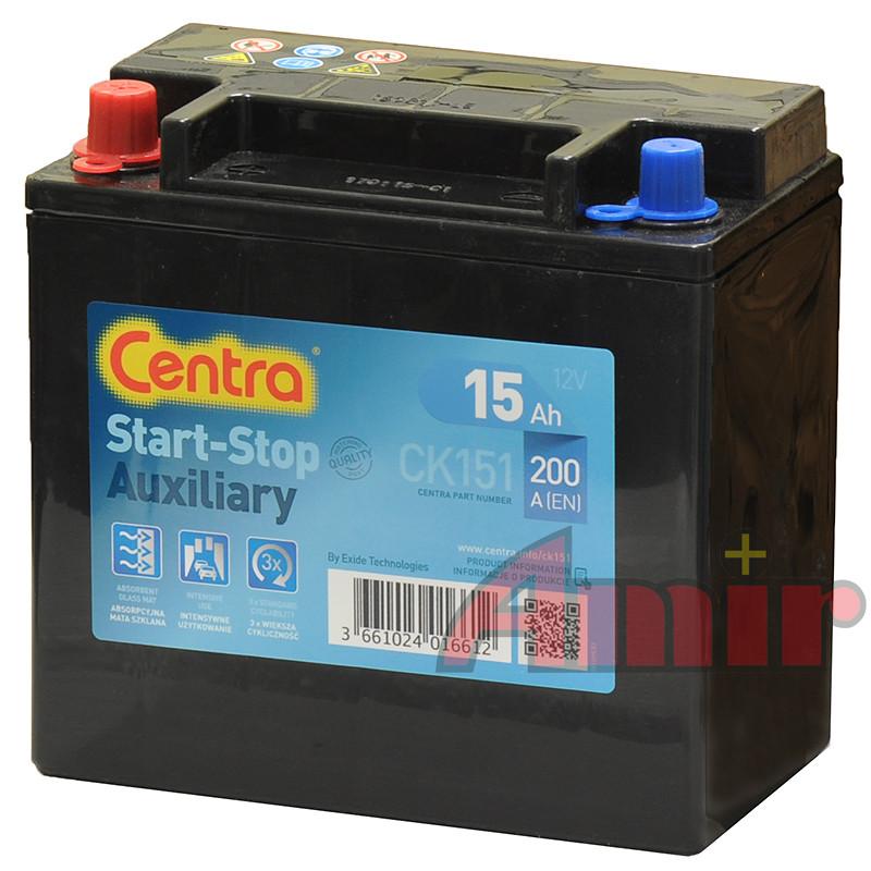 Akumulator Centra Start-Stop Auxiliary - 12V 15Ah 200A CK151