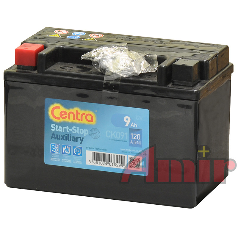 Akumulator Centra Start-Stop Auxiliary - 12V 9Ah 120A CK091