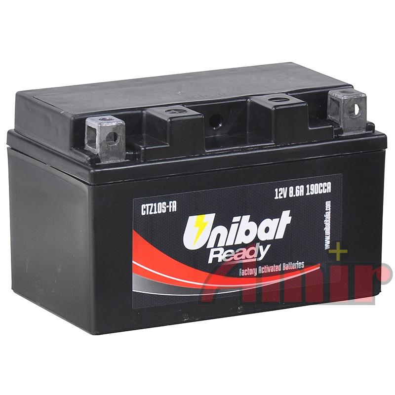 Akumulator Unibat CTZ10S-FA - 12V 8,6Ah 190A TTZ10S
