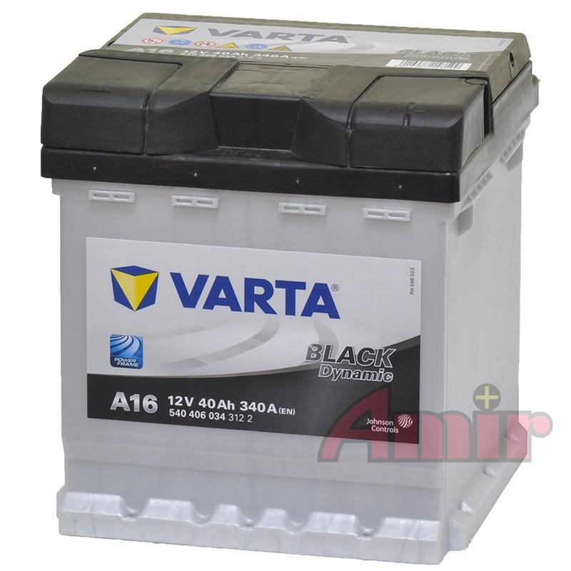 Akumulator Varta Black - 12V 40Ah 340A A16