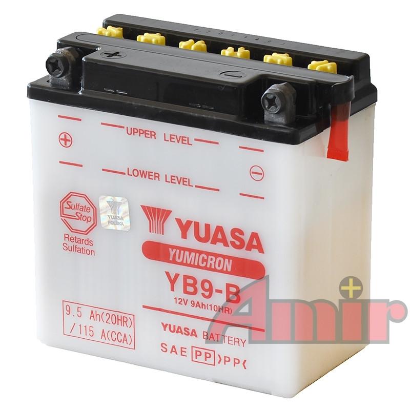 Akumulator Yuasa YB9-B - 12V 9Ah 115A