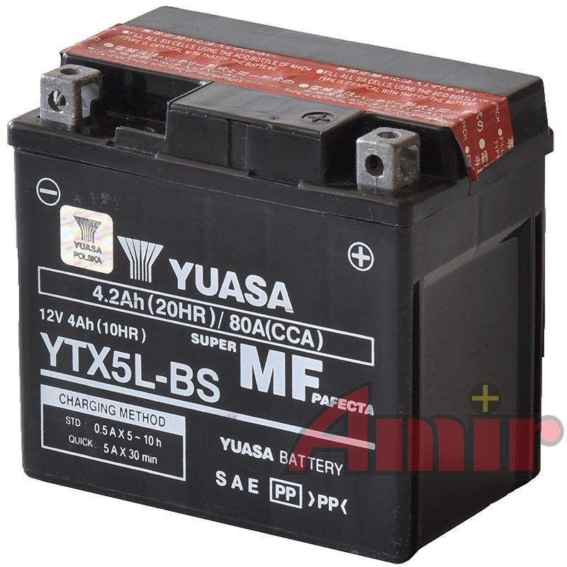 Akumulator Yuasa YTX5L-BS - 12V 4Ah 80A