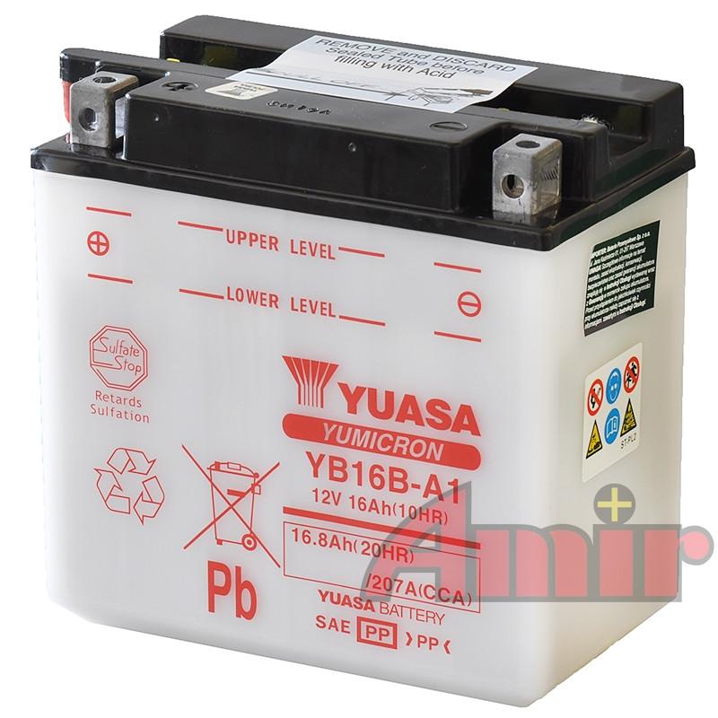 Akumulator Yuasa YB16B-A1 - 12V 16Ah 207A