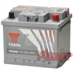 Akumulator Yuasa Silver - 12V 50Ah 480A YBX5063