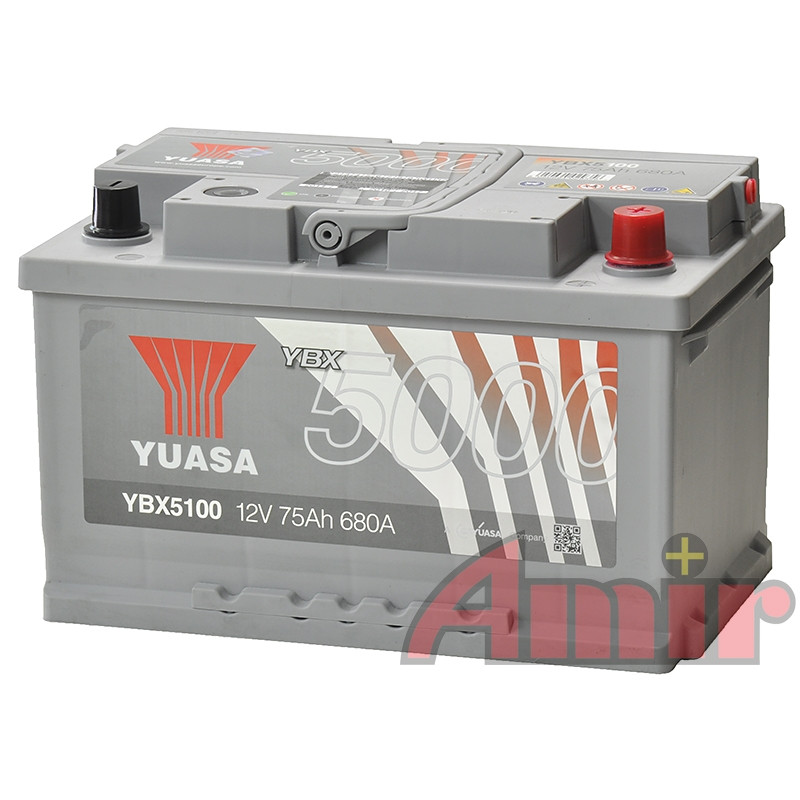 Akumulator Yuasa Silver - 12V 75Ah 680A YBX5100