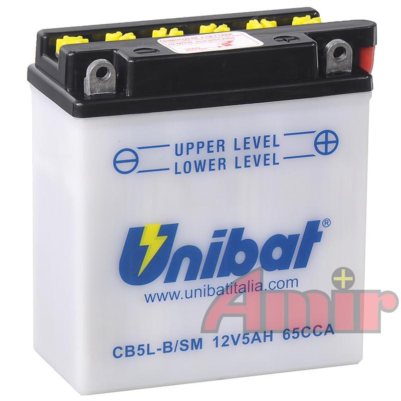 Akumulator Unibat CB5L-B - 12V 5Ah 65A