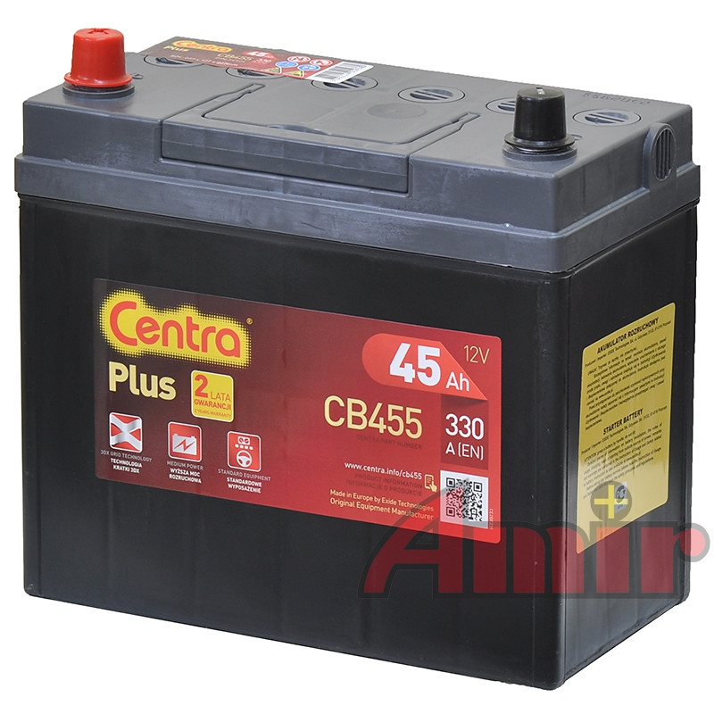 Akumulator Centra Plus - 12V 45Ah 300A CB455 JAPAN