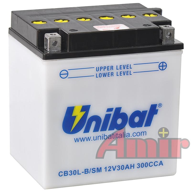 Akumulator Unibat CB30L-B - 12V 30Ah 300A